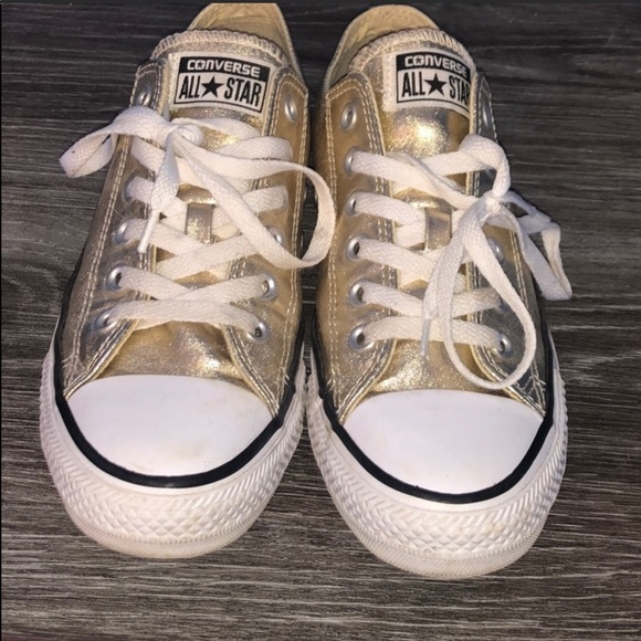 Converse Shoes | Shiny Gold | Poshmark